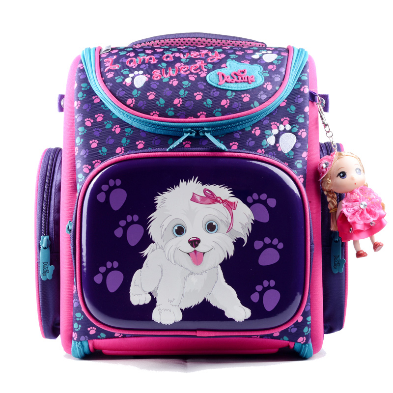 Delune Kids Backpacks Kindergarten School Bags for Girls Boys Waterproof Cartoon Children Mochila escolar infantil Schoolbag(China (Mainland))