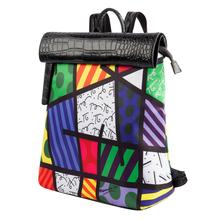 2016 Printing Graffiti Backpack Women PU Backpacks Travel Bag Girl Cartoon Schoolbags(China (Mainland))