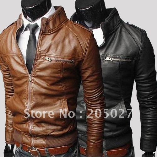 Brown Mens Leather Jacket - Jacket