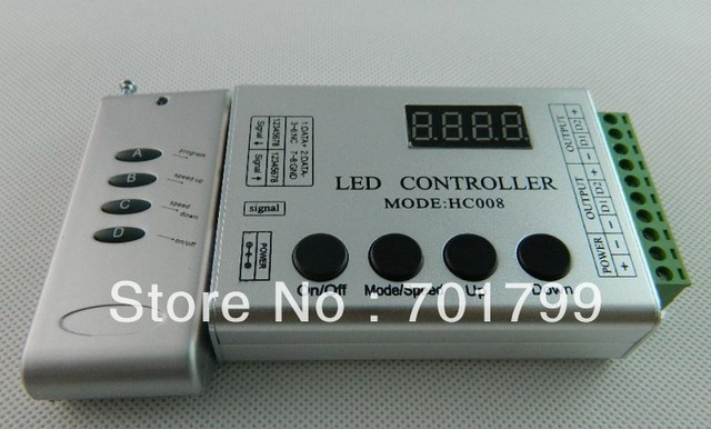DC5V input WS2811 LED RF pixel controller,max control 1024 pixels;used for DC5V ws2801 pixel strip,modules,nodes
