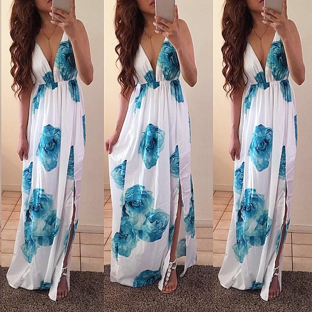 2015 мило печати v-образным вырезом женщин платье sleeveelss