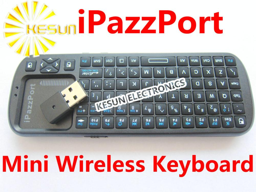 Free shipping Mini iPazzport 2.4G Wireless Keyboard Mouse Touchpad Handheld with LED Light for Raspberry Pi(China (Mainland))