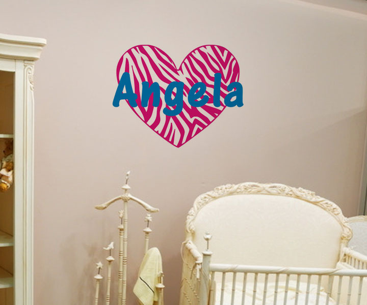 2015 Top Customized Personalized Home Accessories Angel Heart Wall Waterproof Stickers For Children Room(China (Mainland))