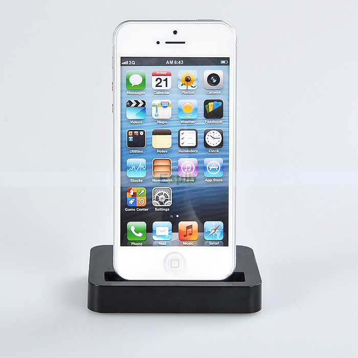 New portable Desktop Data Sync Dock Stand Charger for iPhone 5 5S 5C Touch 5(China (Mainland))