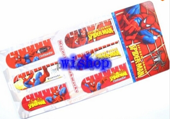 Free shipping 10 sets 60 pcs Spiderman Novelty Items Magnetic Bookmark Cartoon Children Gifts QB115(China (Mainland))