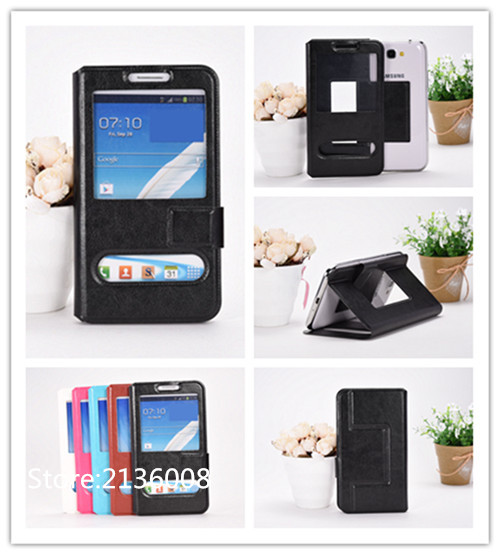 For Mobistel Cynus T Case High Qualit Fashion Mobile Phone Leather Case With Big Mobile Window Free Shipping(China (Mainland))