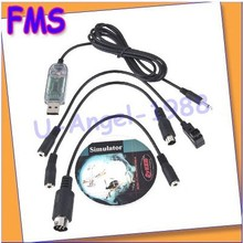 1pcs RC USB Flight Simulator FMS Cable Helicopter Controller(China (Mainland))