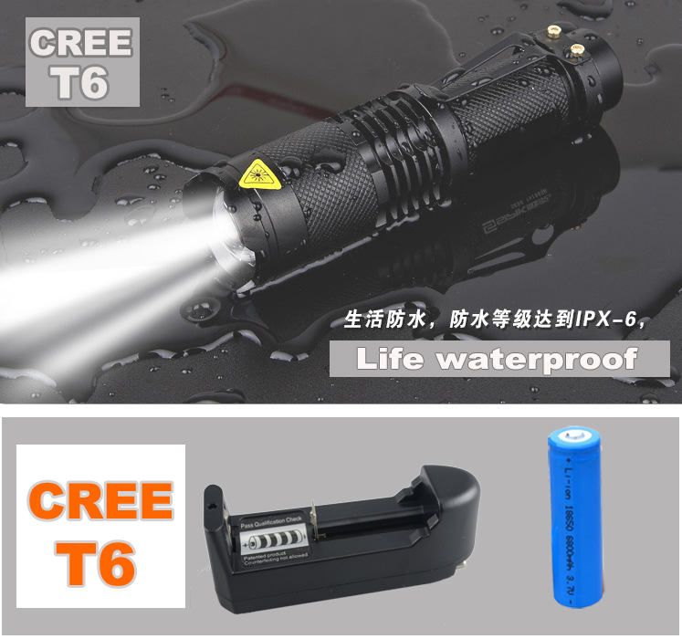 30set 2000 Lumens Lanternas Led Torch CREE XM-L T6 Led Flashlight 18650 Torch Rechargeable With Charger Powerful Lights