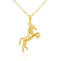 The new horse pendant 18k gold plated necklaces pendants Pendants jewelry for men / women DW011(China (Mainland))