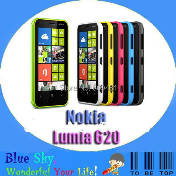 Nokia 620 original Nokia Lumia 620 Microsoft Windows Phone 8 5.0MP camera 8G ROM + 512M RAM(China (Mainland))