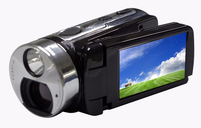 "winait full hd 1080p solar digital video camera with 3.0"" TFT display and 16x digital zoom free shipping"