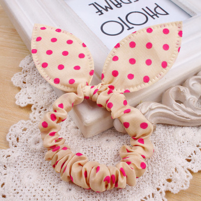 Гаджет  Free shipping rabbit ears hair ring hair rope rubber band head flower hairpin hair jewelry trinkets None Одежда и аксессуары