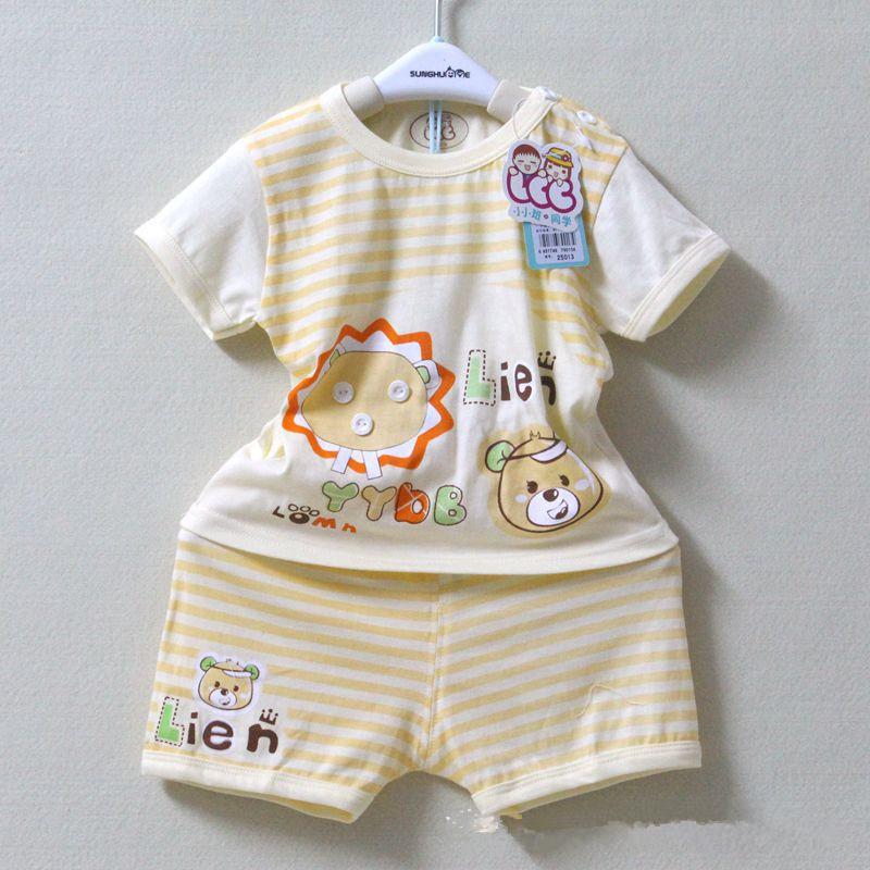 Baby Clothes Sets Children's set kid's t-shirts girls boys t shirt+pants undershirt Shorts baby Underwear 5 colors(China (Mainland))