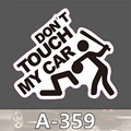 Styling A 359 Don t touch my PVC waterproof suitcase stickers affixed leaflet toon dead fly