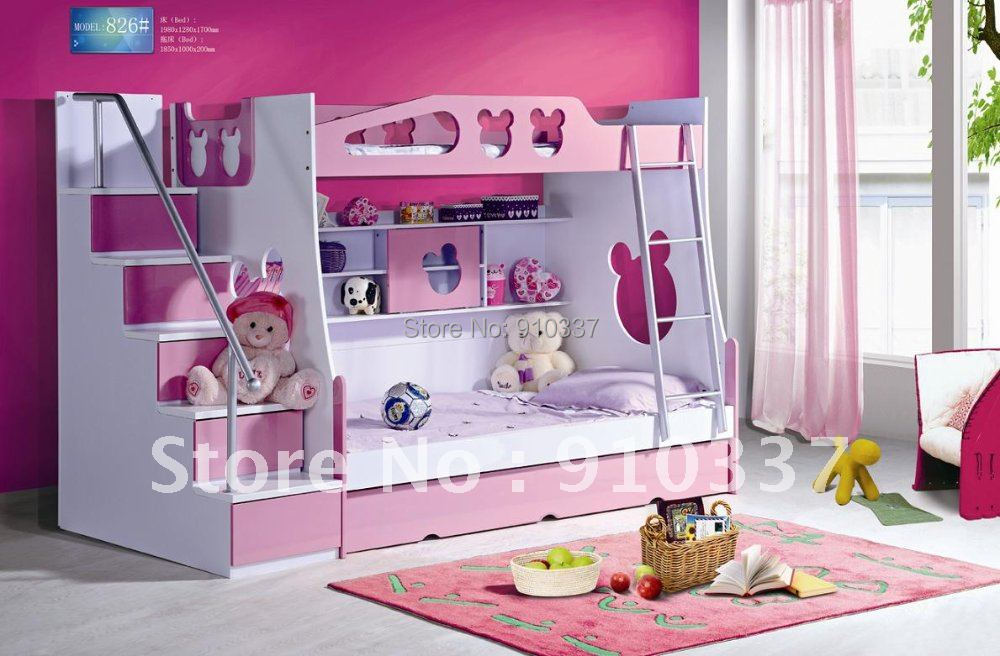 Mdf Panels Kids Bed Full Bunk Bed With Stairs And Underbed
