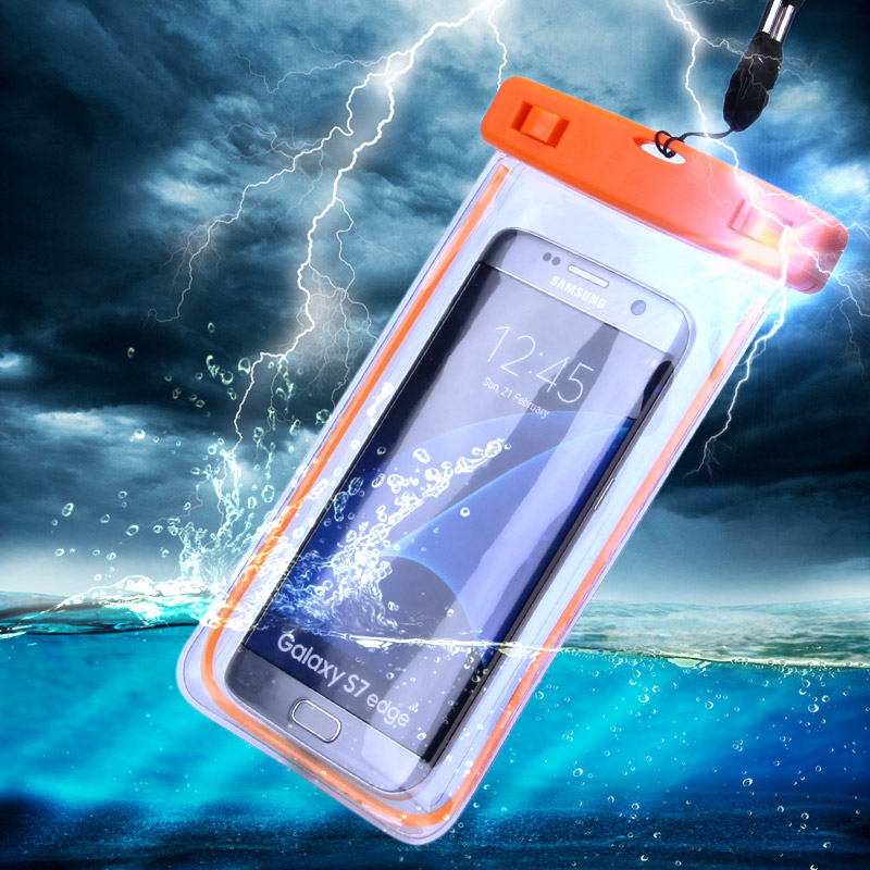 Swim Photography Waterproof Bag Underwater Luminous Case For Samsung Galaxy J5 J7 A3 A5 A7 G530 Back cover For iPhone 6S 6S Plus(China (Mainland))