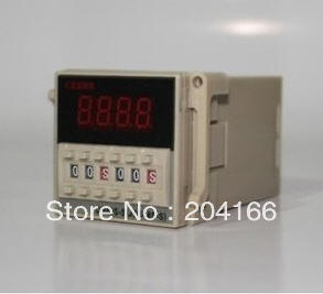 Time relay DH48S-S 220V 24V 12V dock socket repeat cycle timer 1s-990h LED display 8 pin panel installed - Reliablesource store