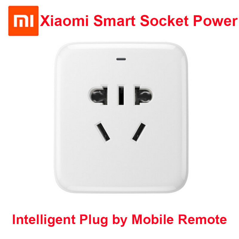100% Original Xiaomi Smart Socket Power Charger Intelligent Plug WiFi Wireless Remote Control Phone Charger with 5V 1A USB(China (Mainland))