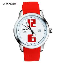 SINOBI Fashion Sports Women Wrist Watches Silicone Watchband luxury Brand Ladies Running Geneva Quartz Clock Montres Femmes 2017(China (Mainland))
