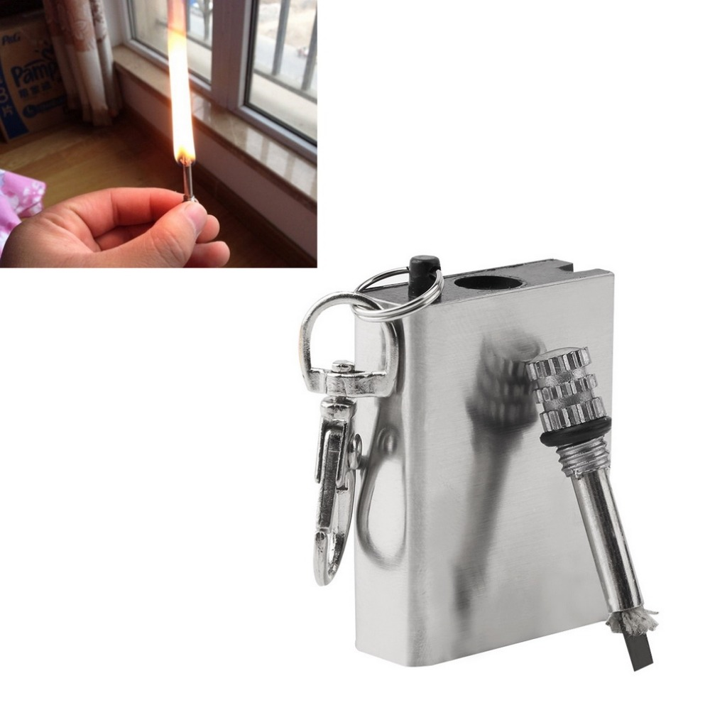 Free Shipping Emergency Fire Starter Flint Match Lighter Metal Outdoor Camping Hiking Instant Survival Tool Safety Durable hot(China (Mainland))