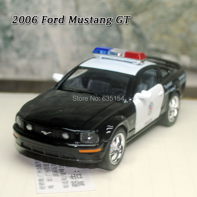 Wholesale 5pcs/lot Brand New 1/38 Scale Pull Back Car Toys 2006 Ford Mustang GT (Police Edition) Diecast Metal Car Model Toy(China (Mainland))