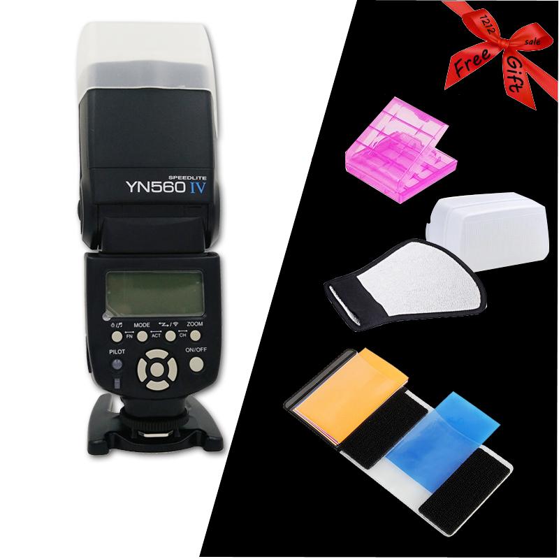Yongnuo YN560 IV YN560IV Universal Wirelss Master Slave Flash Speedlite for  DSLR Camera with 4 Free Gift Like Refecter diffuser<br><br>Aliexpress