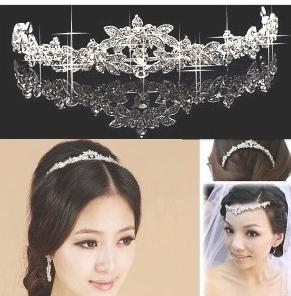 Luxury Classic Bride Rhinestone crystal Bridal Hair Crown Bridal Hair Crown Tiara Wedding Jewelry  30pcs/lot  Accessories