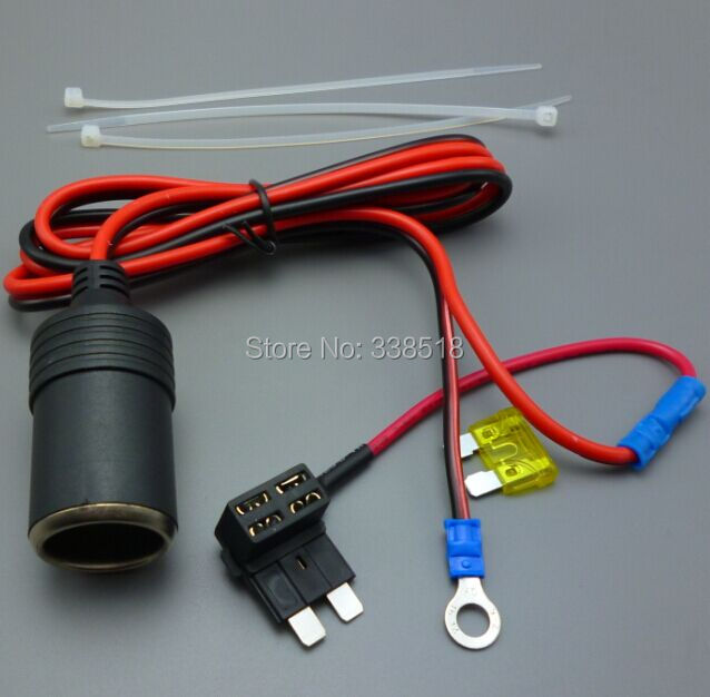 Motorcycle Marine Cigarette Lighter 12 V Accessory Socket Outlet + fuse+ cable(China (Mainland))