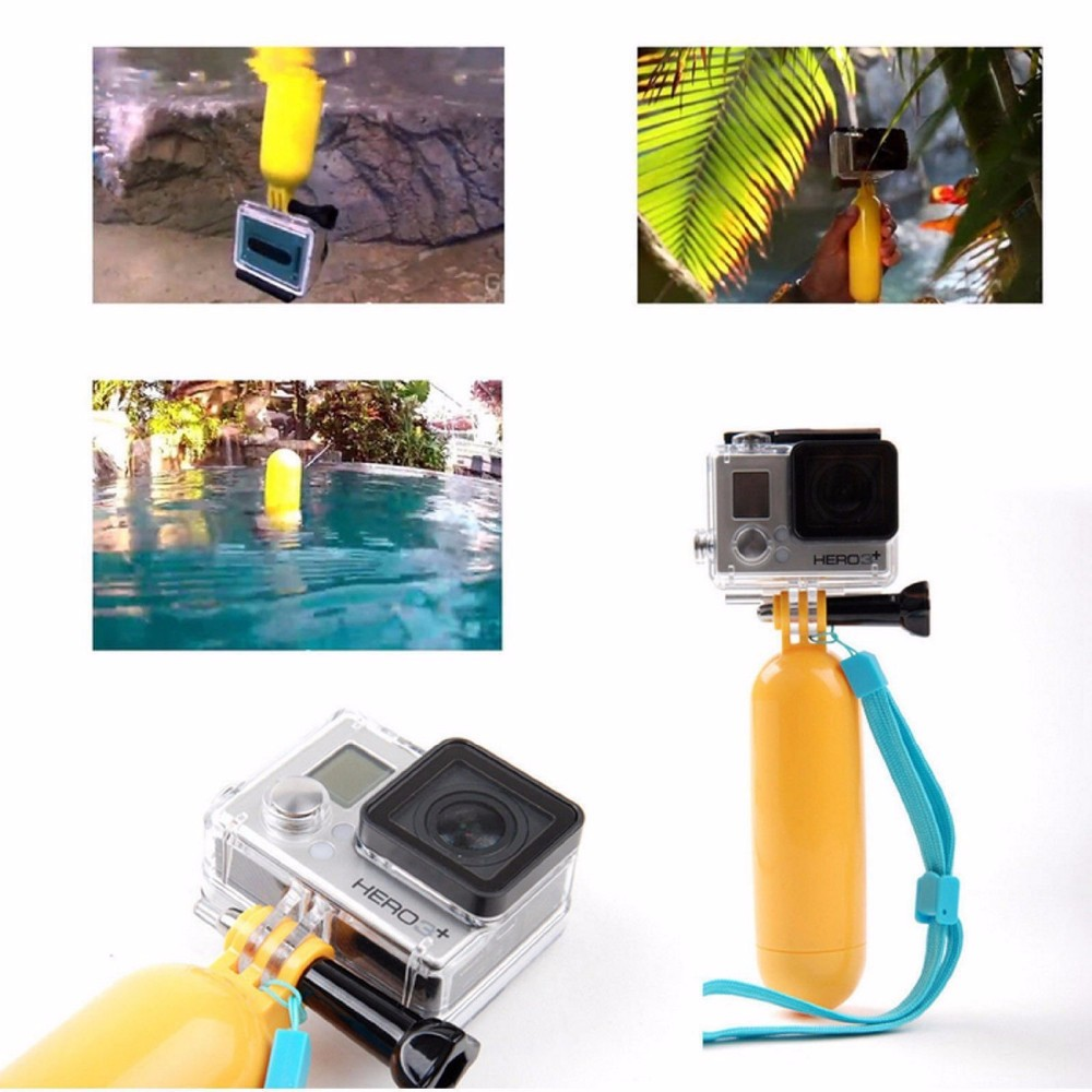 GoPro accessories 3 in 1 Set Floating Grip + Monopod +Suction Cup for GoPro sj4000 HD Hero 1 2 3 3+ 4 xiaomi yi Action Camera