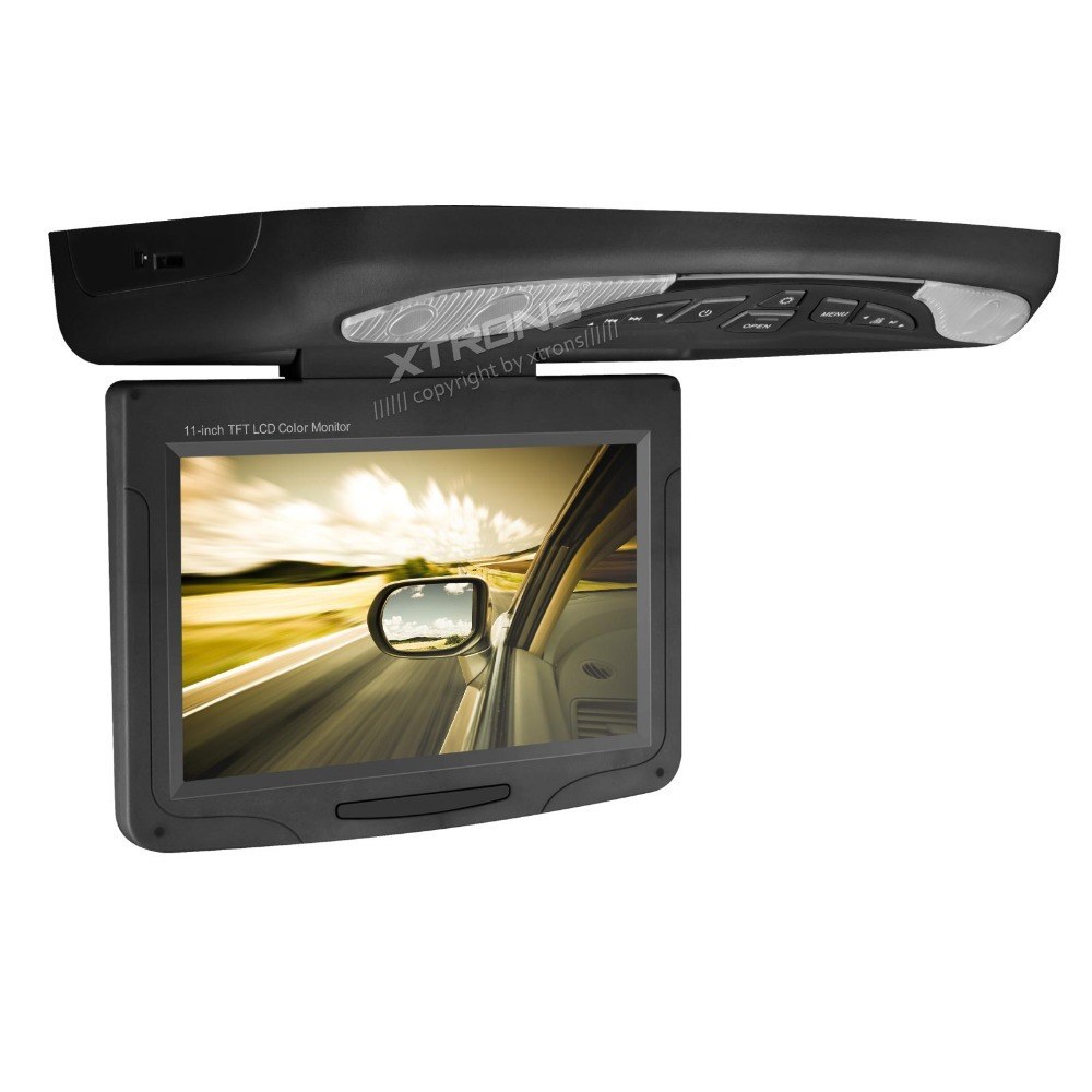 "XTRONS Black 11.3""Digital Monitor Flip down Car Roof DVD Player Overhead USB FM Game Disc(China (Mainland))"