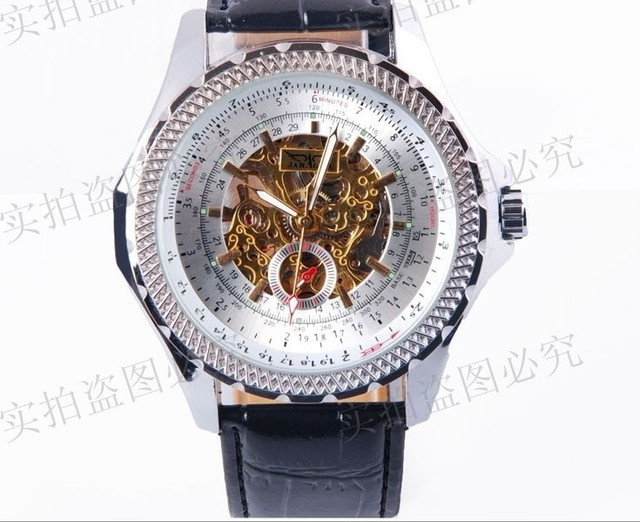 Free shipping navy seal high class sport mechanical wristwatch men big face auto self-wind watches stainless steel strap