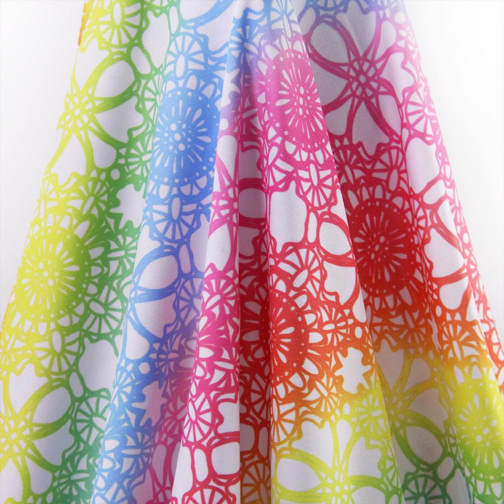 Buy 50 139cm rainbow 4 ways stretch knit for Kids knit fabric