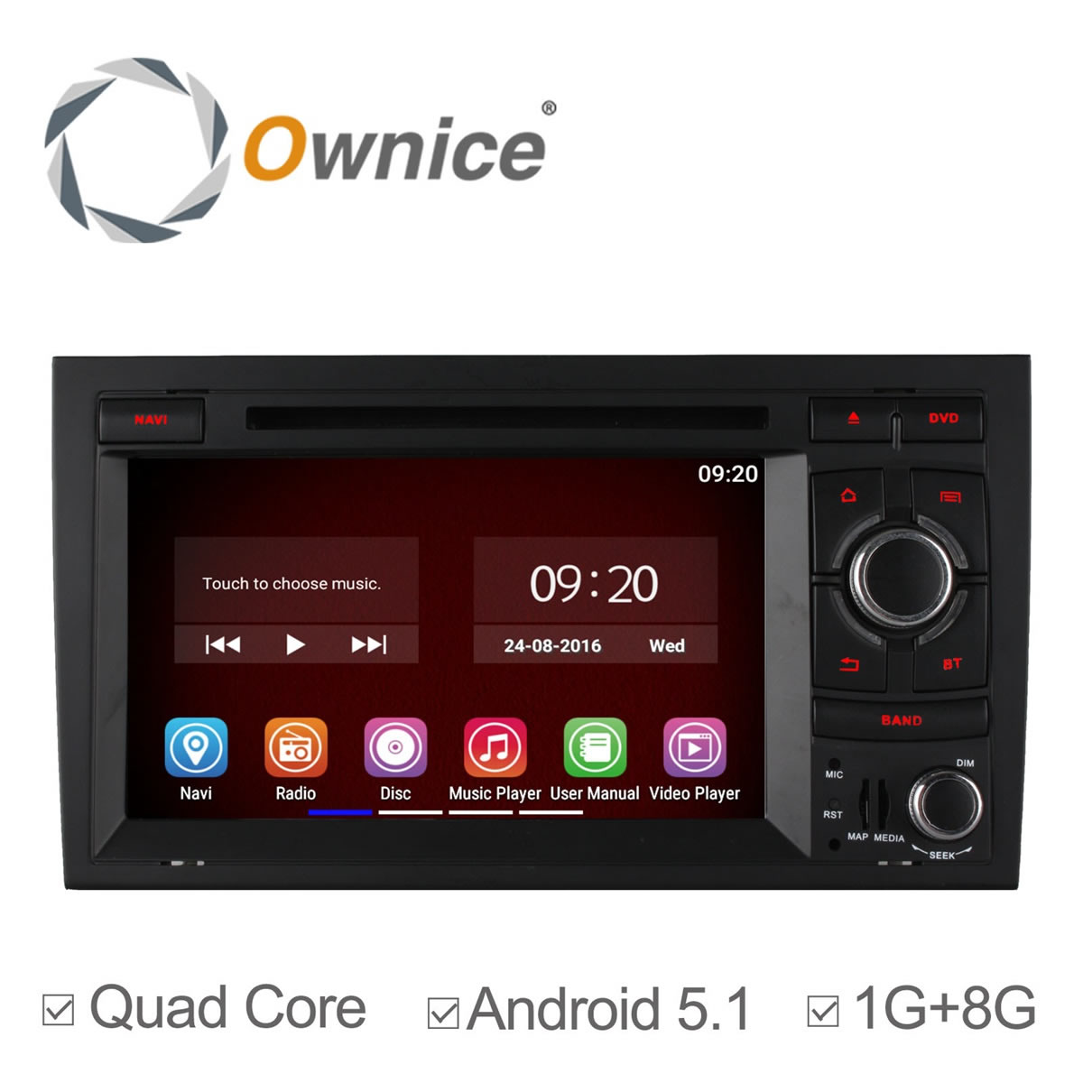 4 Core Android 5.1 Car DVD Player For Audi A4 2002 - 2007 Audi S4 RS4 8E 8F B9 B7 RNS-E with GPS Sat Nav Car Autoradio Bluetooth(China (Mainland))