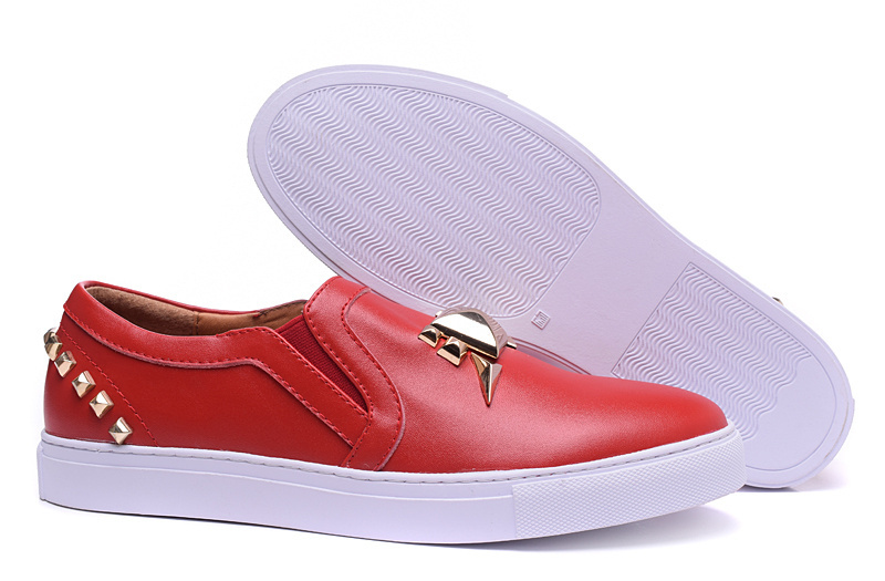New Fashion Black/ White/ Red Slip On Men Shoes Metal Design Men Sneakers Casual Flat Shoes Plus Size Zapatos Hombre Brand(China (Mainland))