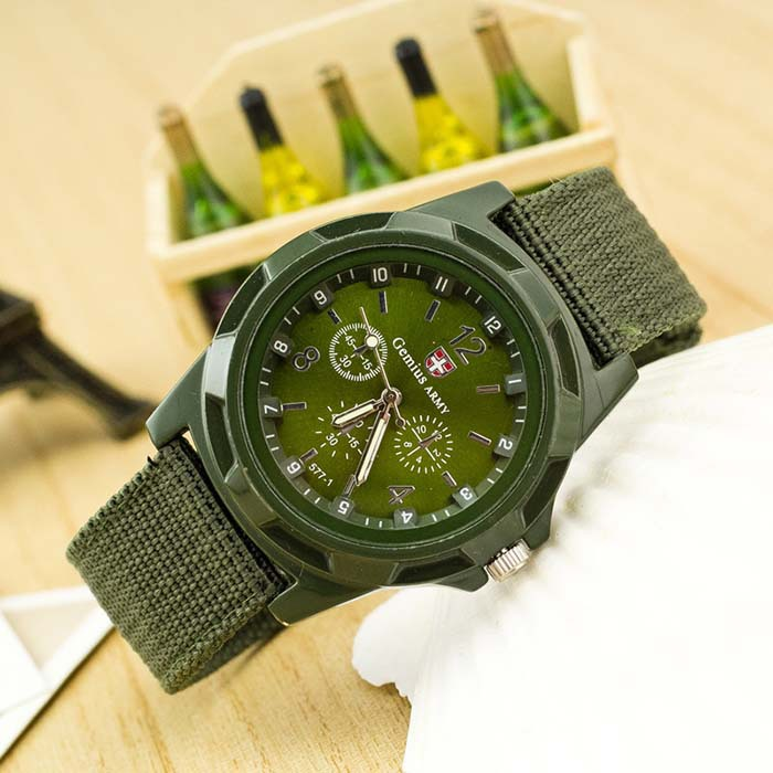 Famous Brand Men Military Canvas Strap Watch Outdoor Sport Army Soldier Fabric Analog Quartz Wristwatch Relogio