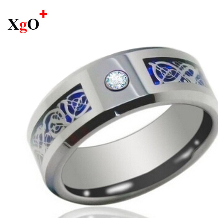 Manufacturers custom tungsten gold ring with diamonds trade in Europe and America just men tungsten rings Korean Hot Fashion Jew(China (Mainland))