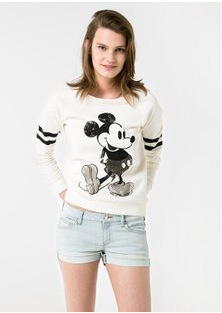 Free Shipping!2014 New Fashion Autumn Women's O-Neck Hoodies,Casual Slim Fit,Mickey Mouse Printed Women's Sweatshirt,Plus Size(China (Mainland))