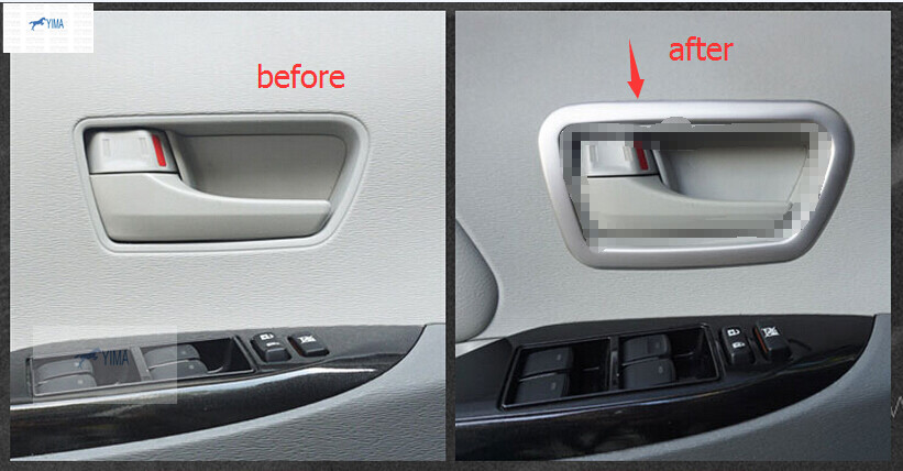 For Toyota Sienna 2013 - 2015 ABS Front Door Handle Bowl Cover Interior Trim Modling Garnish 2pcs / set