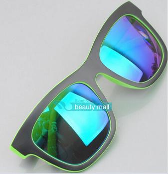 2014 новый двойной цвет покрытие очень крутой очки женщины и мужчины стиль солнцезащитные очки ocolos de sol