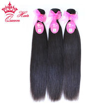 Queen Hair Products Brazilian Virgin Hair Straight 100% Unprocessed Virgin Human Hair Weave Bundles FAST SHIPPING by QueenHair(China (Mainland))