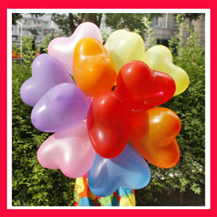 20pcs/lot 2.2g 12inch Festa Balloon Birthday Party Baloons Aniversario Decorations Air Balloons Love Heart Shape Bola(China (Mainland))