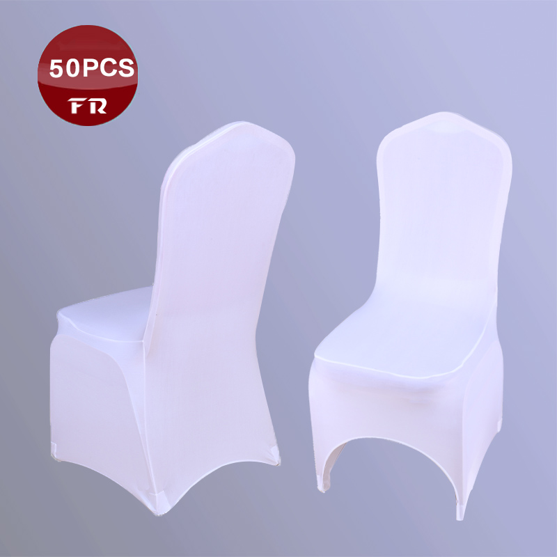 50PC Wedding Chair Covers China/ Universal Lycra White Wedding Chair Covers of Weddings Party Folding Hotel Wedding Chair Covers(China (Mainland))