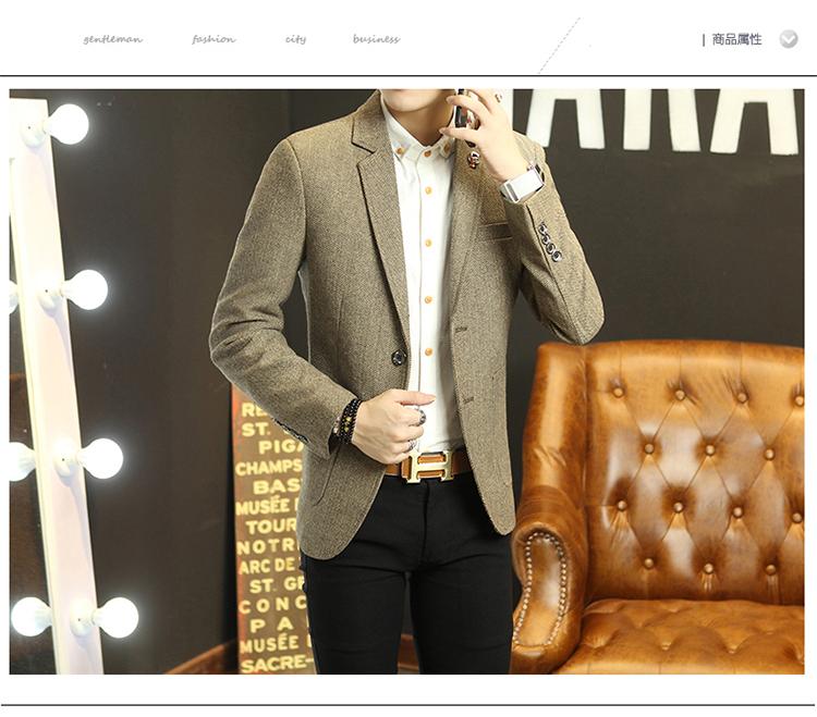 HTB1vPxDNpXXXXa6XVXXq6xXFXXXt - Mens suit jacket 2016 new cotton polyester suit men's casual suit men's suit jacket lattice Slim jackets for men winter jackets