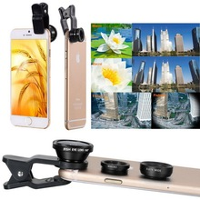 Buy 3 1 Wide Angle Macro Fisheye Lens Kit Universal Mobile Phone Clip Fish Eye Lenses Iphone Samsung Sony Xiaomi Mi6 Android for $1.47 in AliExpress store