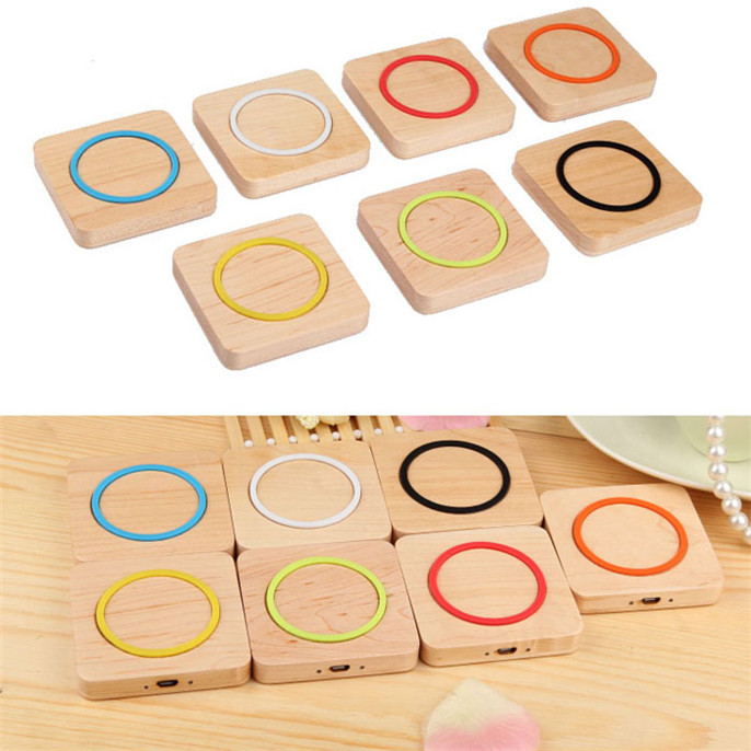 relogio Qi Wireless Charger Wood Pad for Galaxy S5 S4 Note 4 3 Nexus For Nokia For iPhone