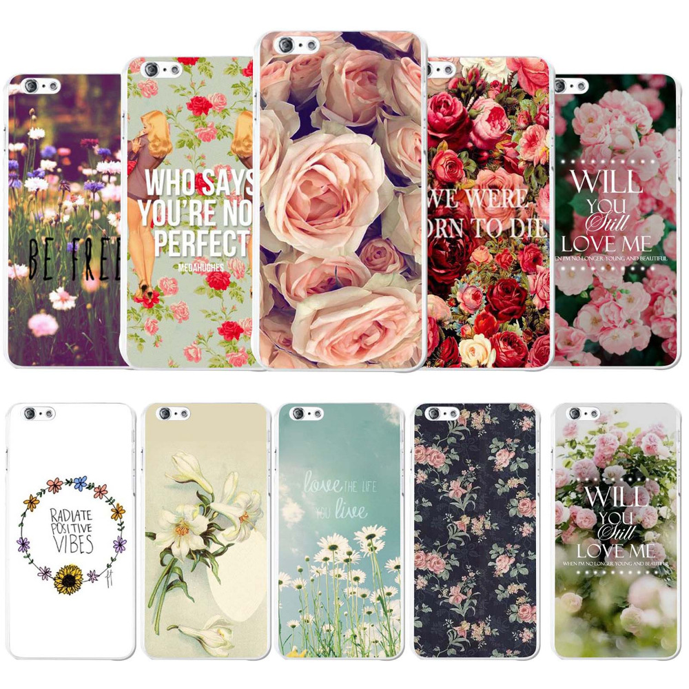 Phone Case Cover Apple iPhone 6 6s 4.7 inch Gorgeous Romantic Flowers Roses Painted Printed Hard PC Mobile bags Protector - poplar1115 store