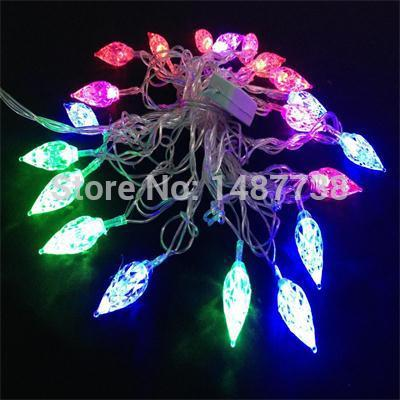 Christmas String lights Diamond 20 leds 5M RGB LED Xmas Tree Light for Wedding Party Outdoor Christmas Decorations(China (Mainland))