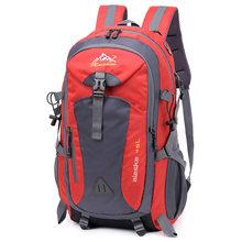 40l à prova d40água de carregamento usb escalada unisex masculino viagem mochila dos homens esportes ao ar livre acampamento caminhadas mochila saco escolar pacote(China)