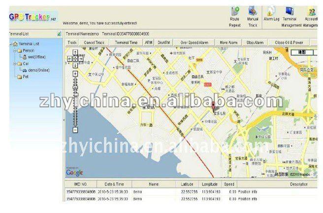 ZY GPS tracker IMEI active Web tracking platform tracking software service for TK102b,TK103,TK103B,TK104,tk105, TK106,TK107(China (Mainland))