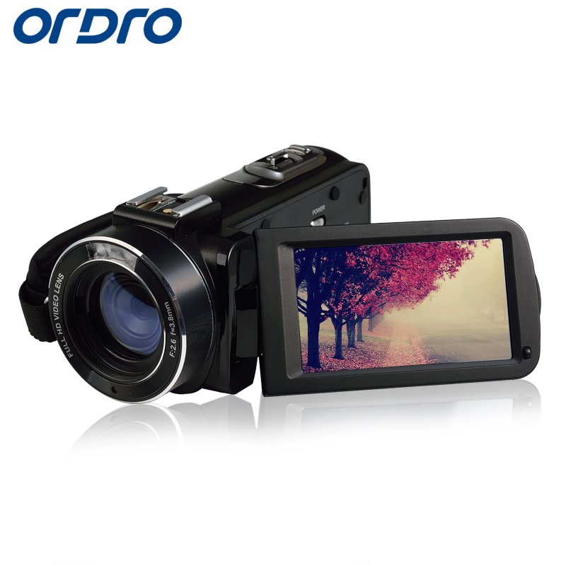 Ordro HDV-Z20 HD 1080P 30fps 16X Reflex Digital Cameras Wifi APP Control Video Recorder CMOS Professional 24MP Photo Camcorders(China (Mainland))